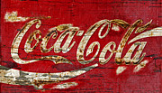 Coca-cola Sign Art - Coca Cola Sign Cracked Paint by John Stephens