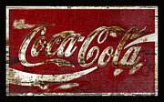 Coca-cola Sign Art - Coca Cola Sign Grungy Paint by John Stephens