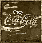 Antique Coke Sign Posters - Coca Cola Sign Poster by John Stephens