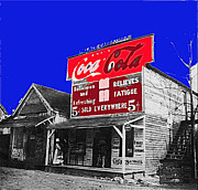 Shootist Prints - Coca Cola sign Palace Cafe Sumter SC Print by David Lee Guss