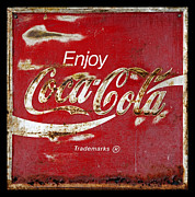 Antique Coca Cola Sign Prints - Coca Cola Vintage Rusty Sign Print by John Stephens