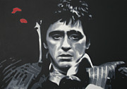 Tony Montana Framed Prints - Cocaine 2013 Framed Print by Luis Ludzska