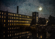 Full Moon Photos - Cocheco Falls Millworks by Bob Orsillo