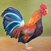 Cock Paintings - Cock by Andrea Meyer