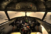 Lockheed Photos - Cockpit - Lockheed Model 18 Lodestar by David Morefield