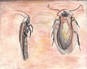 Cockroach Paintings - Cockroach by Chris Tetreault