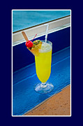 Refreshing Posters - Cocktail Poster by Betsy A Cutler East Coast Barrier Islands