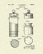 Patent Drawings - Cocktail Shaker 1934 Patent Art by Prior Art Design