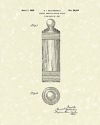 1935  Drawings Posters - Cocktail Shaker 1935 Patent Art Poster by Prior Art Design