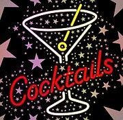 Cheers Prints - Cocktail Star Print by Cindy Edwards