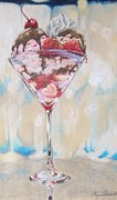 Color Pencil Drawings - Cocktail Sundae by Megan Doman