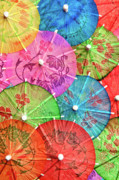 Mixed Drink Prints - Cocktail Umbrellas VI Print by Tom Mc Nemar