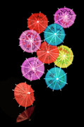 Mixed Drink Prints - Cocktail Umbrellas VIII Print by Tom Mc Nemar