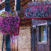 Fourth Of July Mixed Media Metal Prints - Cocktails on Main Street Metal Print by Krystal K-Hawley