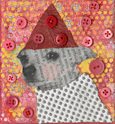 Chihuahua Abstract Art Posters - Coco #1 Poster by Jen Kelly Hirai