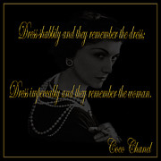 Coco Framed Prints - Coco Chanel 1 Framed Print by Andrew Fare