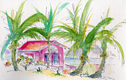 Bahamas Landscape Paintings - Coco Plum by Pat Katz