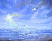 Cocoa Beach Birds Print by AnnaJo Vahle