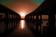 Florida Bridges Digital Art Prints - Cocoas End of the Day Print by Don and Sheryl Cooper