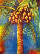 Tree Art Pastels - Coconut tree by Michael Alvarez