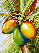 Frond Painting Prints - Coconuts Print by Carlin Blahnik