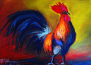 Coq Framed Prints - Cocorico Coq Gaulois Framed Print by EMONA Art
