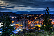City Scape Metal Prints - Coeur d alene Obscurity Metal Print by Derek Haller