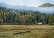 Coeur D Alene River Farm Print by Idaho Scenic Images Linda Lantzy