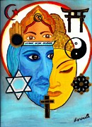 Religions Paintings - Coexist by Lorena Oliver