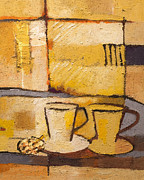 Espresso Paintings - Coffee and Bisquit by Lutz Baar