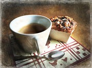 Coffee And Muffin Print by Barbara Orenya
