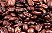 Coffee Prints Framed Prints - Coffee Beans Framed Print by John Rizzuto