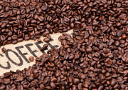Scattered Prints - Coffee Beans Print by Rick Piper Photography