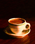 Coffee House Prints - Coffee Break 20130717 Print by Wingsdomain Art and Photography