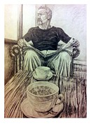 Relaxing Drawings - Coffee Break by Robin Muirhead