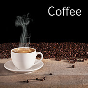 Steam And Smoke Prints - Coffee Concept Print by Colin and Linda McKie