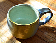 Pottery Ceramics - Coffee Connoisseur  by Christine Belt