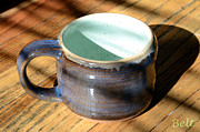 Ceramic Cup Ceramics Acrylic Prints - Coffee Connoisseur No.2 Acrylic Print by Christine Belt