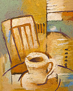 Corner Cafe Prints - Coffee Corner Print by Lutz Baar