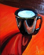 Liner Paintings - Coffee Cup by Anne Thouthip