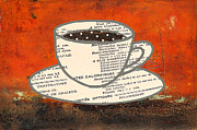 Patina Mixed Media Prints - Coffee Cup Collage Print by AdSpice Studios
