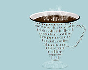 Decaf Prints - Coffee Cup The Jetsons Blue Print by Andee Photography