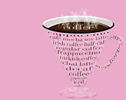 Decaf Prints - Coffee Cup The Jetsons Pink  Print by Andee Photography