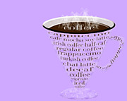Decaf Prints - Coffee Cup The Jetsons Purple Print by Andee Photography