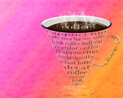 Decaf Prints - Coffee Cup The Jetsons Sorbet Print by Andee Photography