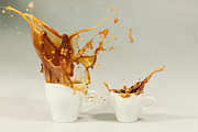 Splish Splash Prints - Coffee  Expresso Print by Thomas Schaller