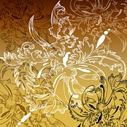 Ornamental Digital Art - Coffee Flowers 11 Calypso by Angelina Vick