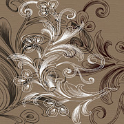 Ornamental Digital Art - Coffee Flowers 4 by Angelina Vick