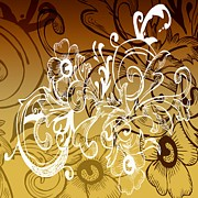 Ornamental Digital Art - Coffee Flowers 7 Calypso by Angelina Vick