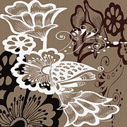 Muted Prints - Coffee Flowers 9 Print by Angelina Vick